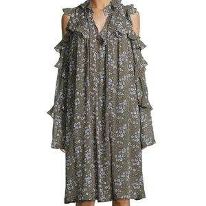 Robert Rodriguez  cold shoulder flower dress